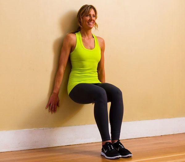 Упражнение Стульчик устены— какие мышцы работают